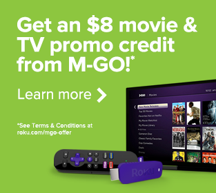 Get an $8 movie & TV promo credit from M-GO!